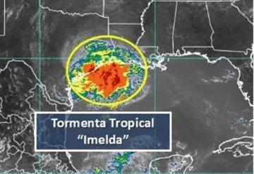 Se forma tormenta tropical Imelda en el Golfo de México