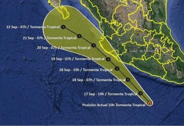 Activan Plan Marina en costas del Pacífico mexicano por tormenta tropical Lorena