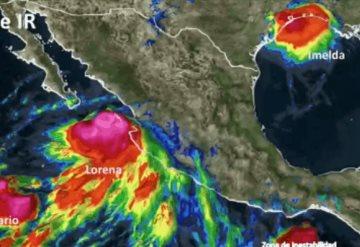 Qué es el efecto Fujiwhara, que puede unir las tormentas Mario y Lorena