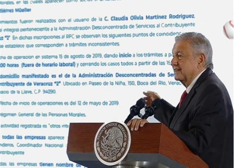 Niega López Obrador ser ´socio´ de 26 empresas en Veracruz