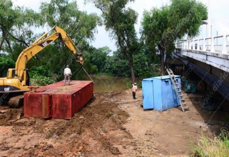 #Fotogalería Trabajan en mantenimiento de puentes en Villahermosa