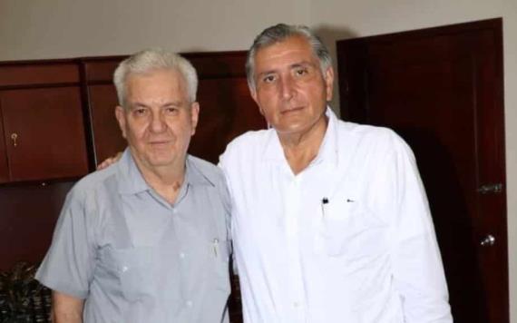 Se reúne el gobernador Adán Augusto López Hernández con el titular del Poder Judicial