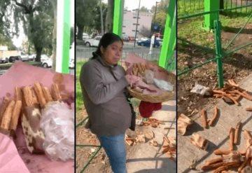 Video: Vendedora de churros llora ante abuso de la policía