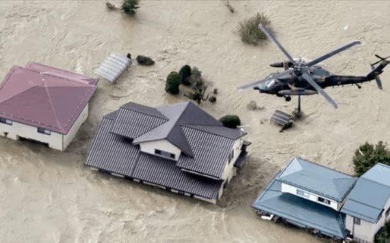 Abuelita cae de helicóptero al intentar ser rescatada de tifón Hagibis