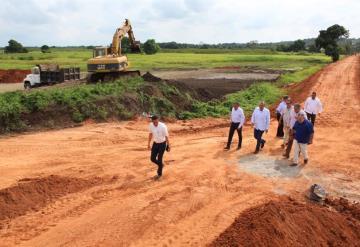 Supervisan los trabajos de la planta de tratamiento de aguas residuales en Emiliano Zapata