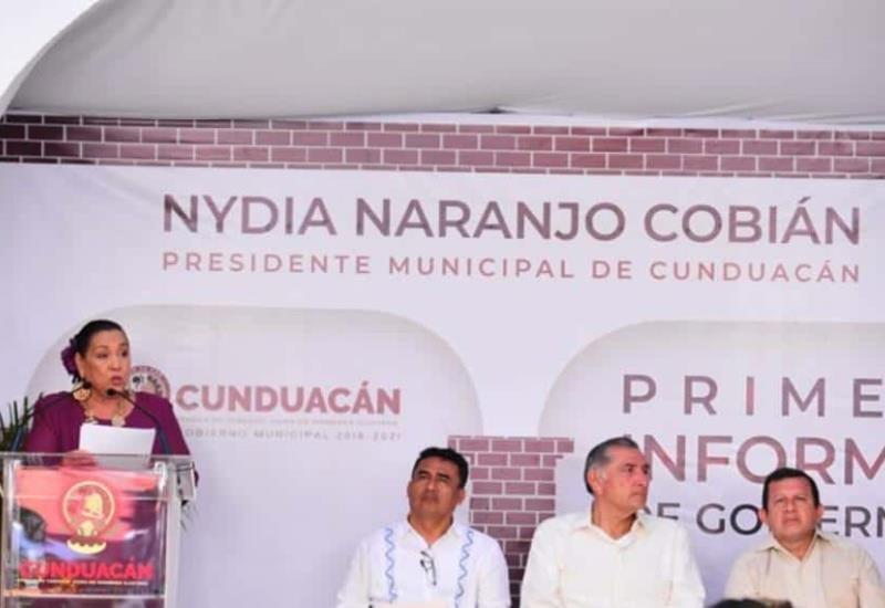 Rinde primer informe alcaldesa de Cunduacán