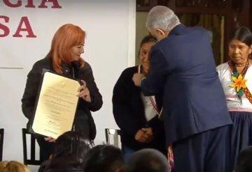 Entregan a Obtilia Eugenio el Premio de Derechos Humanos 2019