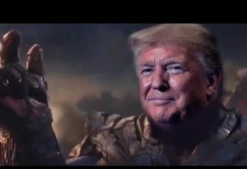 ¿Thanos con la cara de Trump? Lo hicieron para un video electoral