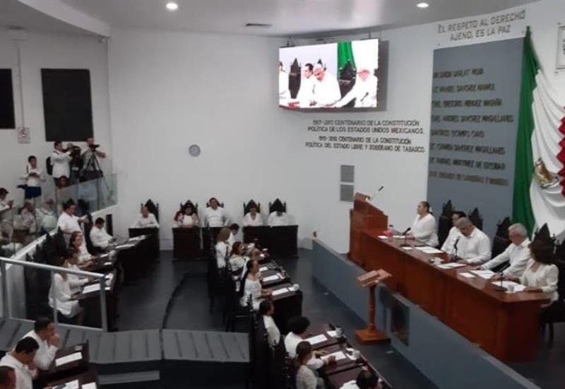 Realizan clausura del segundo año legislativo en el Congreso de Tabasco