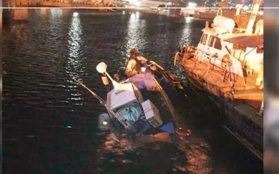 Se hunde embarcación de Pemex en Oaxaca