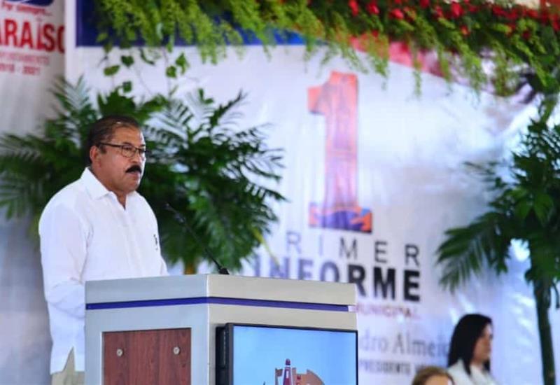 Rinde Primer Informe presidente municipal de Paraíso