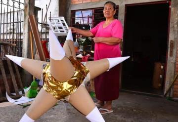 Las piñatas la han sacado adelante, esta es la historia de Isabel López