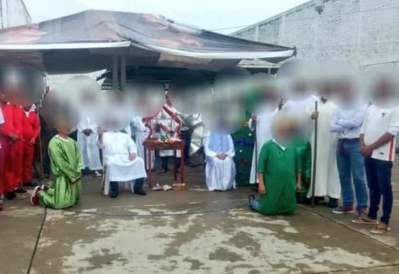 Realizan pastorela y Santa Misa en Cereso de Cunduacán