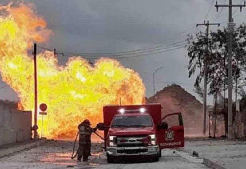 Explota ducto de gas en Reynosa