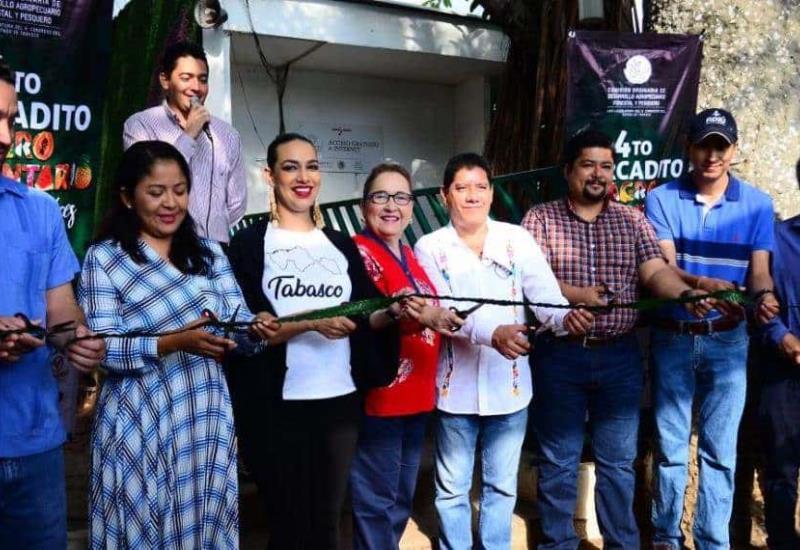 Inauguran 4to Mercadito  Agroalimentario en Villahermosa