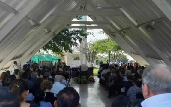 Realizan funeral de Carlos Garrido, director del Instituto Tecnológico Superior de Villa La Venta