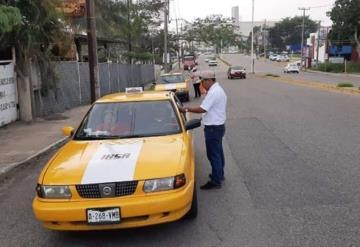 Implementa Movilidad operativo contra taxis pirata en Villahermosa