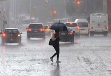 Se reportan fuertes lluvias y caída de granizo