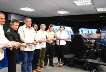 Inauguran el simulador vial en la SSPC Tabasco, fue donado por la Embajada de Estados Unidos