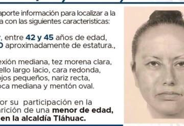 Publican retrato hablado de la mujer vende papitas que presuntamente se llevó a Fátima