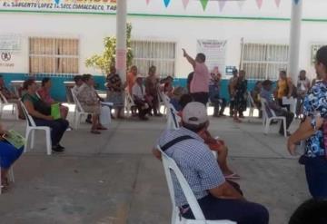 Aplican medidas sanitarias en entrega de apoyos de bienestar en Comalcalco