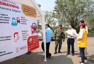 Revisa Secretario de Gobierno los filtros carreteros en Tabasco
