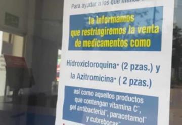 Limitan venta de hidroxicloroquina y azitromicina en farmacias; se cree que ayudan a tratar COVID-19