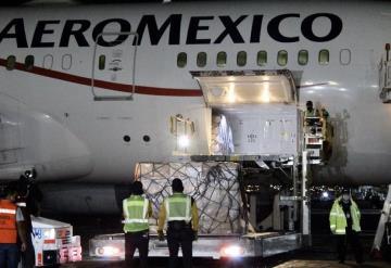 Llega a México séptimo cargamento con insumos médicos  contra COVID-19