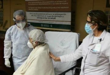 Hortensia, de 65 años, venció al COVID-19 con protocolo experimental de plasma del IMSS