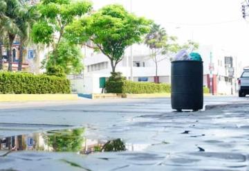 Aprovechan nula movilidad para sanitizar calles en el municipio de Paraíso para frenar contagios