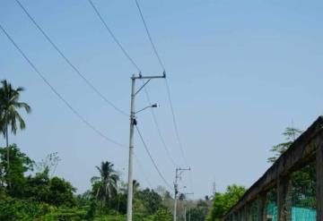 Ayuntamiento de Paraíso realiza mantenimiento de la red de distribución de energía eléctrica