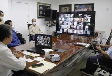 El gobernador de Tabasco y los 16 alcaldes de los municipios hacen balance sobre la pandemia