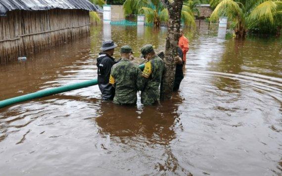 Activan Plan DN-III-E en Yucatán por fuertes lluvias