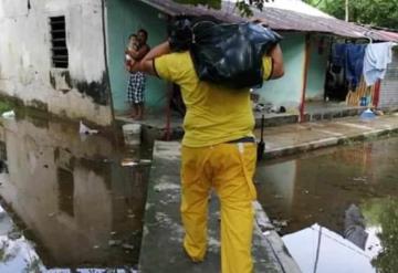 50 familias afectadas en Teapa