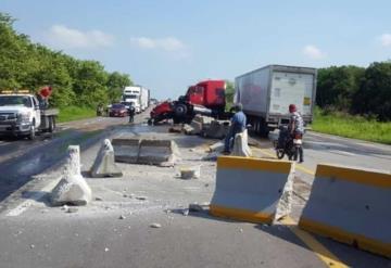 Alerta vial en ambos sentidos por choque en la carretera Villahermosa-Macuspana