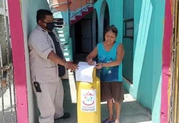 Apoyan con tanques de gas a familias jonutecas