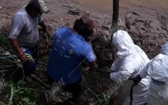 Rescatan el cuerpo de un hombre en el río Usumacinta