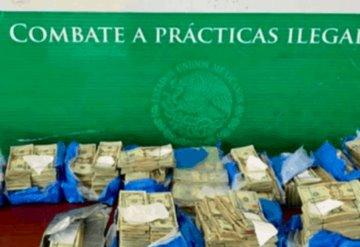Detienen sujeto con 375 mil dólares en aduana de Matamoros