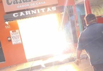 Se incendia restaurante en centro de Villahermosa