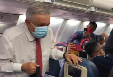 VIDEO: AMLO llega a Estados Unidos