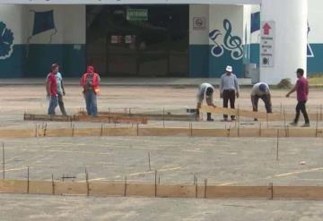 Inician trabajos de instalación de la burbuja hospitalaria en el Parque Tabasco