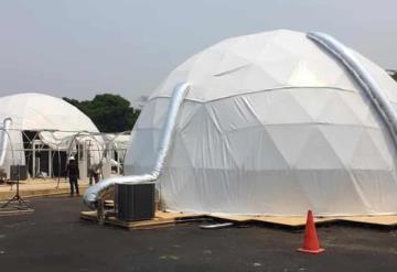 Registra 25% de avance de las burbujas hospitalarias del Parque Tabasco
