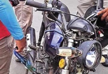 Adulto mayor es atropellado por motociclista; viajaba en bicicleta
