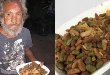 Hombre que recibió plato de croquetas con arroz, estrena casa nueva