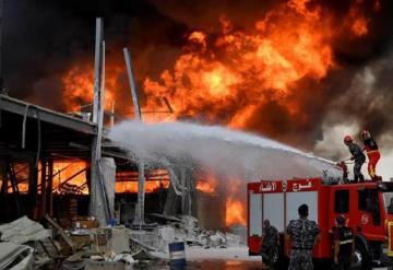 VIDEO: Nuevo incendio en el Puerto de Beirut; a un mes de la fuerte explosión