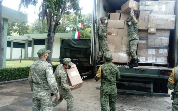 Arriba a Tabasco 4 toneladas de material de protección personal, insumos y equipo médico