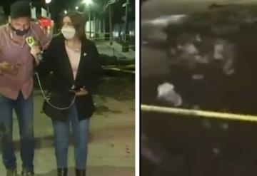 VIDEO: Camarógrafo cae en un socavón mientras transmitía en vivo