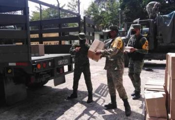 3 toneladas de material de protección personal, insumos y equipo médico arribaron hoy a Tabasco