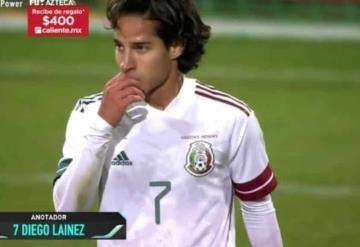 ¡Extraordinario gol! Diego Lainez  empata el partido entre México y Argelia