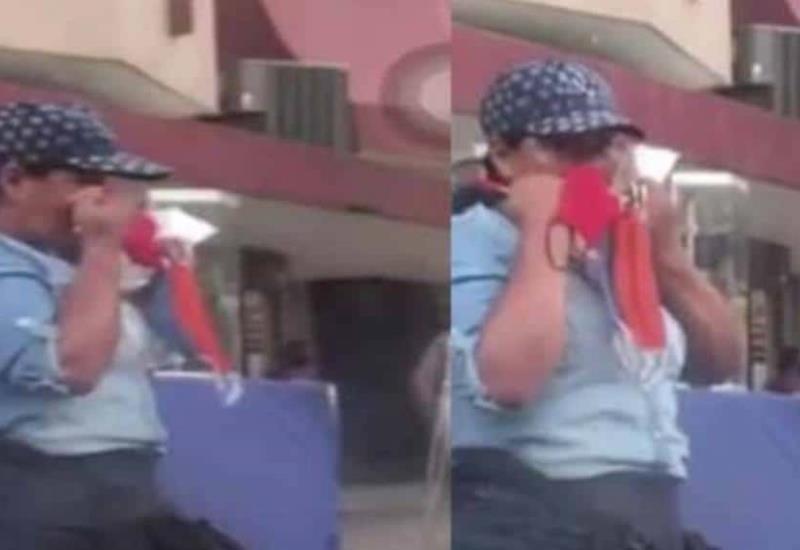Vídeo: Multan a mujer que se limpiaba la nariz con tapabocas en Colombia